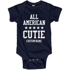 Baby Name All American Cutie Bodysuit