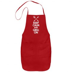 Keep Calm Grill On Apron