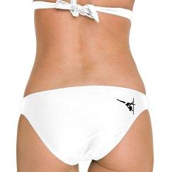 Pole Dance Bikini Bottom Swimsuit White