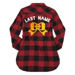 Custom Last Name Cheer Flannel