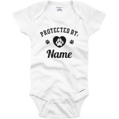 Protected By Custom Name Bodysuit