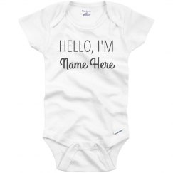 Hello. I'm New Here Baby Name