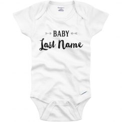 Arrow Baby Name Bodysuit