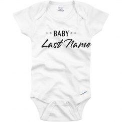 Arrow Baby Name Bodysuit
