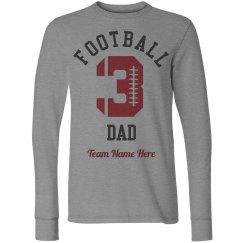 Custom Number Football Dad