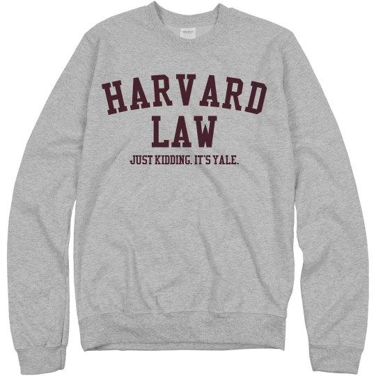 97e1deb9c00f Harvard. Kidding. Yale. Unisex Basic Promo Crewneck Sweatshirt