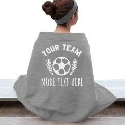 Custom Soccer Blanket