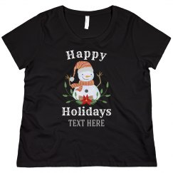 Holiday Snowman Custom Sweater