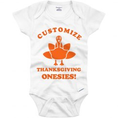 Custom Turkey Day Onesie
