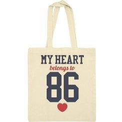 My Heart Belongs To 86 Mom Tote