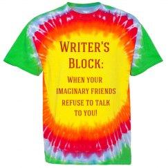 Writer's Block Tie-Dye Tee