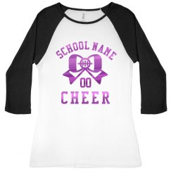 Fuschia Metallic Custom Cheer Raglan