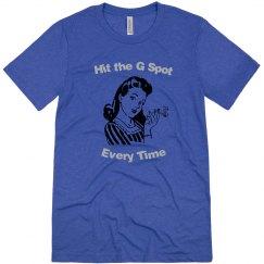 Hit the G Spot - Mens crewneck T-shirt - Vintage Blue