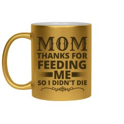 Metallic Funny Mom Mug