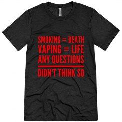 Smoking VS Vaping Men's Tshirt