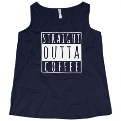 Straight Outta Coffee Plus Tank