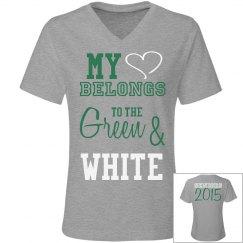 Heart belongs: Wht & Grn
