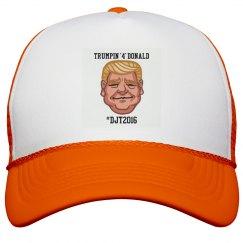 ORANGE TRUMPN 4 DONALD TRUKR HAT