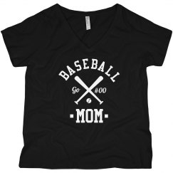 Custom Baseball Mom Curvy Tee
