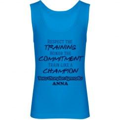 Girl's Champion Tank blue