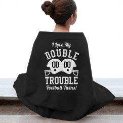 Football Mom Football Twins Comfy Game Blanket