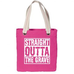Funny Halloween Straight Outta Tote Bag