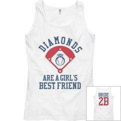 Inexpensive Baseball Bachelorette Party Bride Tank Top