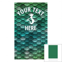 Custom Text Mermaid Face Cover