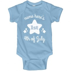 Custom First Fourth Baby Onesie