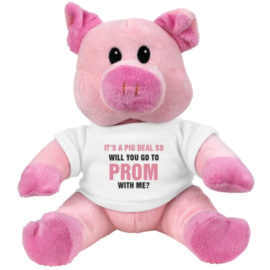 Cute Promposal Pig Ask Her Prom 7 5 Inch Pink Piggie Stuffed Animal