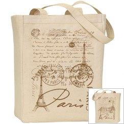 Paris Designer Tote Bag