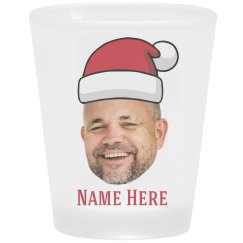 Custom Photo Santa Shot Glass