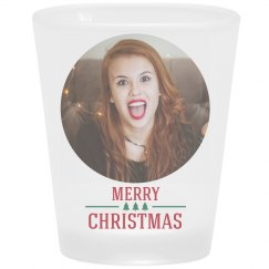 Add Your Photo Christmas Shot Glass