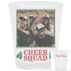 Christmas Cheer Squad Custom Shot Glass