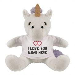 Custom Love You Unicorn