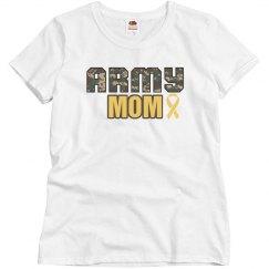 Army Mom Ribbon Shirt