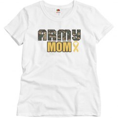 Army Mom Ribbon Shirt