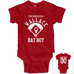 Little Baseball Bat Boy Onesie With Custom Back