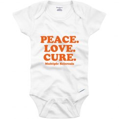 Peace Love Cure Onesie