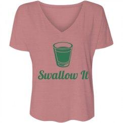 Ladies Flowy Slouchy V-Neck Tee