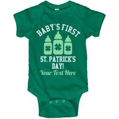 Custom Baby's First St Patricks