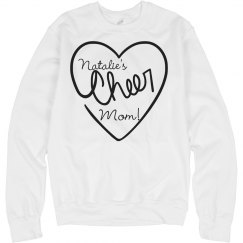A Trendy Custom Cheer Mom Sweater With Custom Name