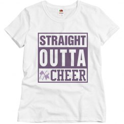 Straight Outta Cheer Misses Tee