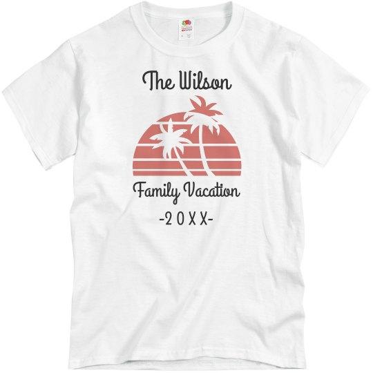 4b2f20a33 Custom Family Vacation Unisex Basic Promo T-Shirt