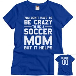 Soccer Mom School Colors With Custom Name and Number