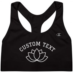 Custom Lotus Yoga Sports Bra