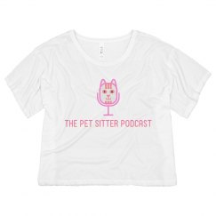 The Pet Sitter Podcast™️ Swag Womens Crop