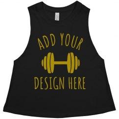 Custom Metallic Workout Design