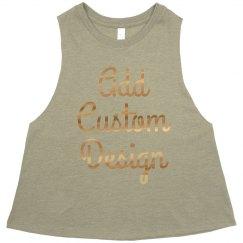 Custom Gold Metallic Design