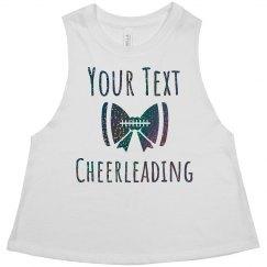 Custom Trendy Black Glitter Cheerleader